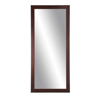 BrandtWorks Walnut 32 x 66-inch Floor Mirror - Brown