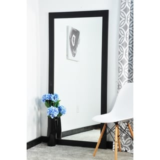BrandtWorks Modern Black 32 in. x 66 in. Floor Mirror