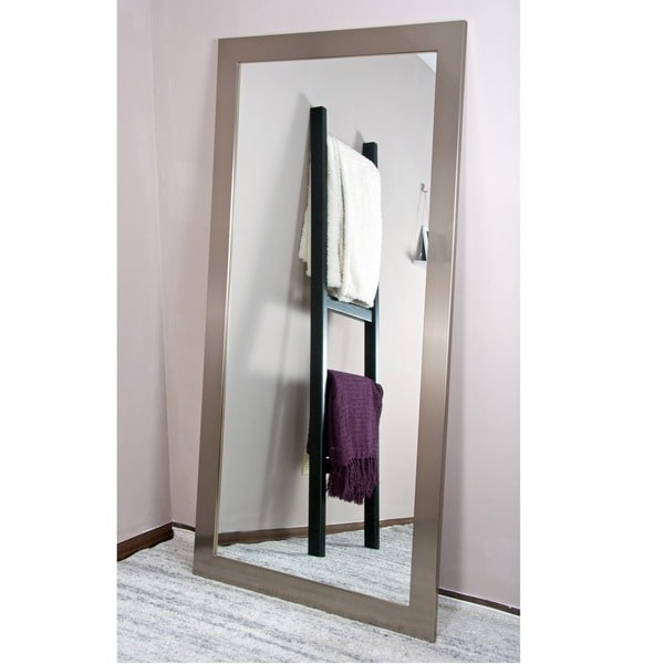 BrandtWorks Stainless Silvertone Wood Frame 32- x 66-inch American ...