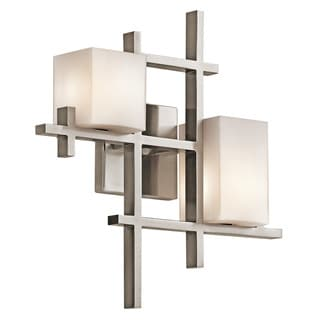 Kichler Lighting City Lights Collection 2-light Classic Pewter Wall Sconce