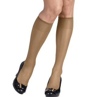 Silk Reflections Women's Silky Sheer Little Color Knee Highs (Pack of 2)