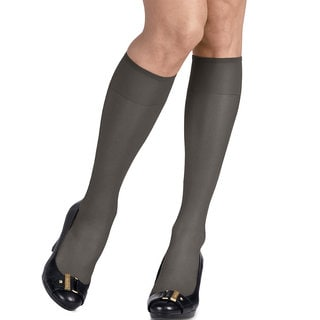 Silk Reflections Women's Silky Sheer Jet Knee Highs (Pack of 2)