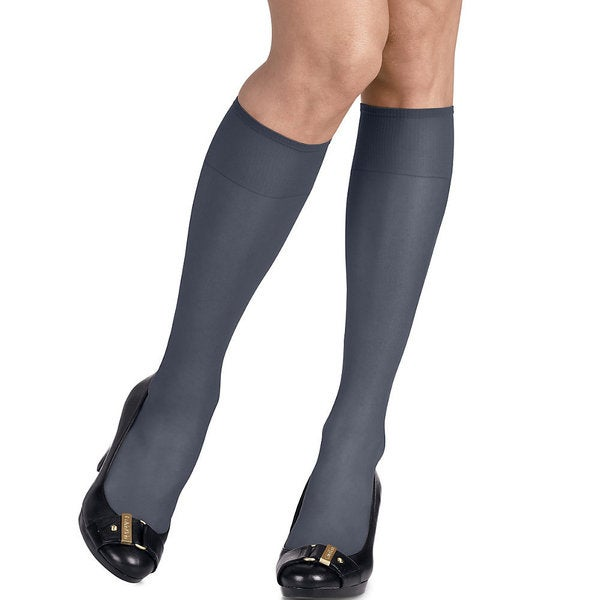 02191228b Shop Silk Reflections Women s Silky Sheer Classic Navy Knee Highs (Pack of 2)  - On Sale - Free Shipping On Orders Over  45 - Overstock - 12183233