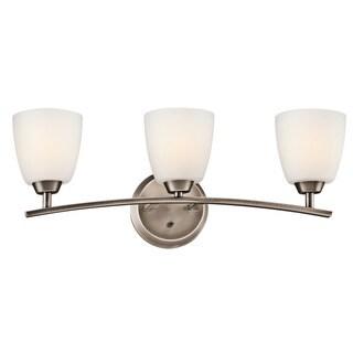 Kichler Lighting Granby Collection 3-light Brushed Pewter Bath/Vanity Light