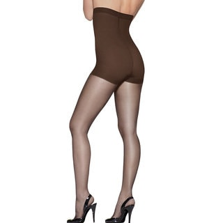 Silk Reflections Women's Gentlebrown High Waist Panty Hose Control Top
