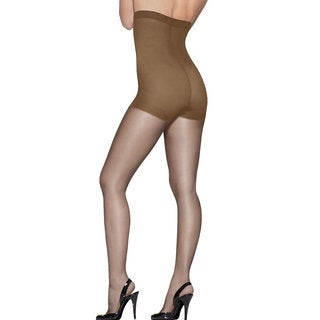Silk Reflections Women's Barely There High Waist Panty Hose Control Top