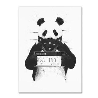 Balazs Solti 'Bad Panda' Canvas Art