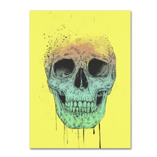 Balazs Solti 'Pop Art Skull' Canvas Art
