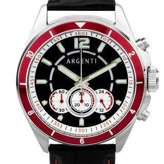Argenti Atelier Men's Racing Style Chronograph Watch. Miyota JS50 Movement, Bright Luminescence