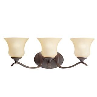 Kichler Lighting Wedgeport Collection 3-light Olde Bronze Bath/Vanity Light