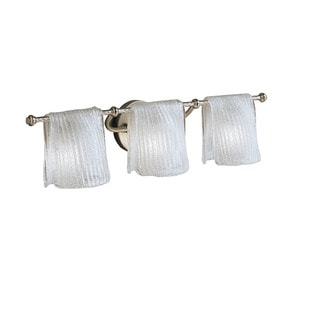 Kichler Lighting Drapes Collection 3-light Brushed Nickel Bath/Vanity Light