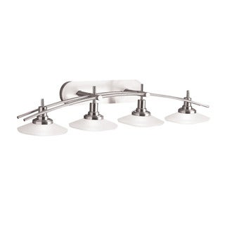 Kichler Lighting Structures Collection 4-light Brushed Nickel Bath/Vanity Light