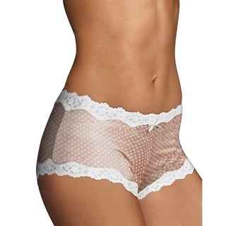 Cheeky Women's Darling Dot Beige Scalloped Lace Hipster