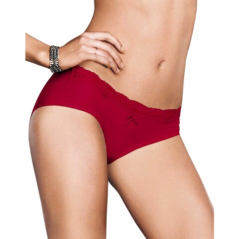 Comfort Devotion Women's Camera Red-y With Black Embellished Hipster
