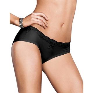 Comfort Devotion Women's Black With Beige Lining Embellished Hipster