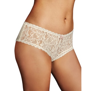 Comfort Devotion Women's Ivory Shell Combo Comfort and Lace Cheeky Hipster