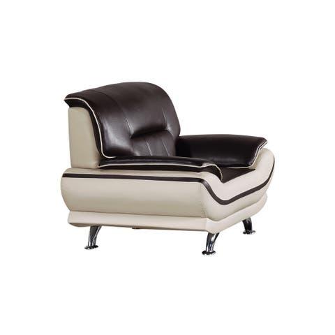American Eagle Mahogany & Light Grey Chair