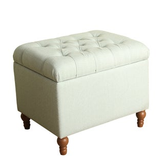 HomePop Medium Tufted Storage Ottoman
