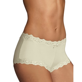 Cheeky Women's Ivory Scalloped Lace Hipster