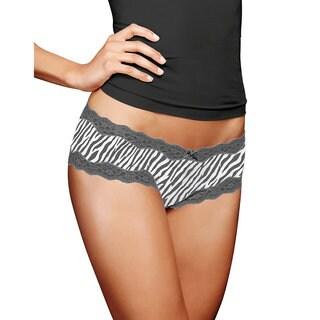 Cheeky Women's Steel Grey Zebra Lace Hipster