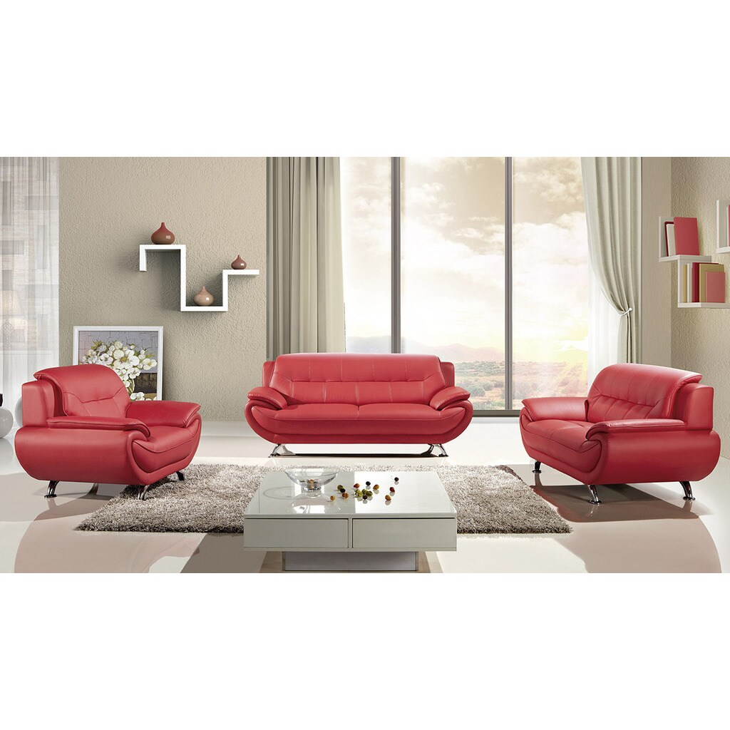 Fabulous 3 Piece American Eagle Red Sofa Set Andrewgaddart Wooden Chair Designs For Living Room Andrewgaddartcom