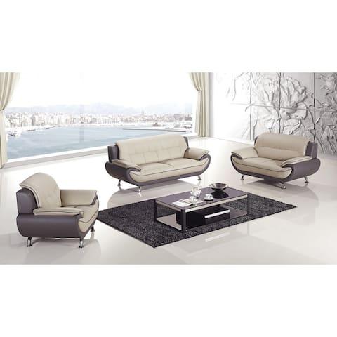 American Eagle Light Grey & Dark Grey Sofa Set