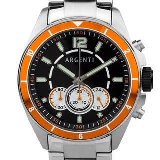 Argenti Atelier Men's Racing Style Chronograph Watch. Miyota JS50 Movement, Bright Luminescence|https://ak1.ostkcdn.com/images/products/12183954/P19033800.jpg?impolicy=medium