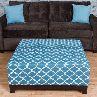 Somette Mulberry Blue Large Ottoman