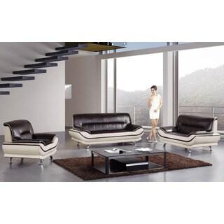American Eagle Mahogany & Ivory Sofa Set