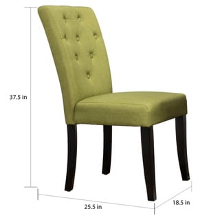 Christopher Knight Home Nyomi Fabric Dining Chair (Set of 2) by  (Apple Green)