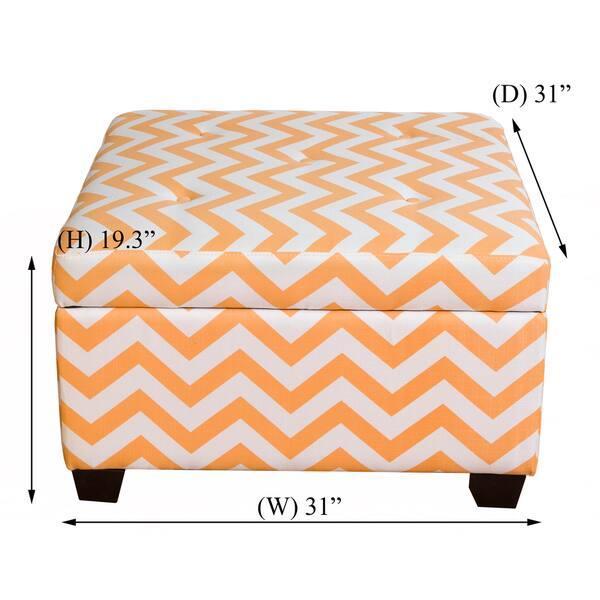 Outstanding Shop Somette Ponce Orange Chevron Storage Ottoman Free Uwap Interior Chair Design Uwaporg