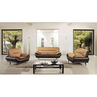 American Eagle Two-tone Brown Bonded Leather Sofa Set https://ak1.ostkcdn.com/images/products/12183985/P19033844.jpg?impolicy=medium