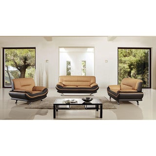 American Eagle Two-tone Brown Bonded Leather Sofa Set