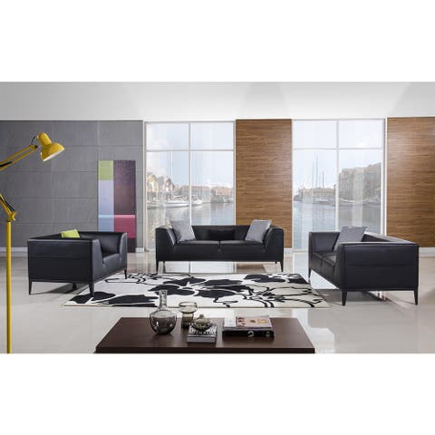 American Eagle Black 3-piece Sofa Set