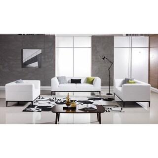 American Eagle White Bonded Leather Sofa Set