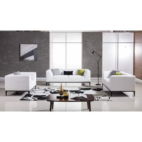American Eagle White Bonded Leather Sofa Set