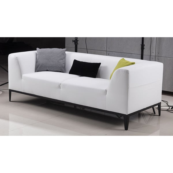 American Eagle White Bonded Leather Sofa