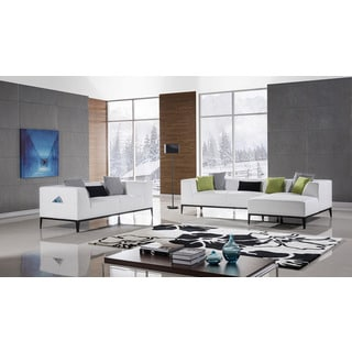 American Eagle White Sectional - Left Chaise