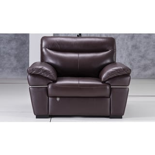 American Eagle Dark Chocolate Italian Leather Chair