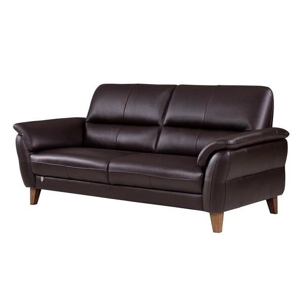 American Leather Sofas Reviews: Shop American Eagle Dark Chocolate Italian Leather Sofa