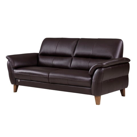American Eagle Dark Chocolate Italian Leather Sofa