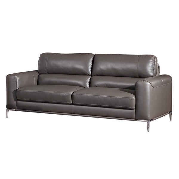 American Eagle Taupe Italian Leather Sofa