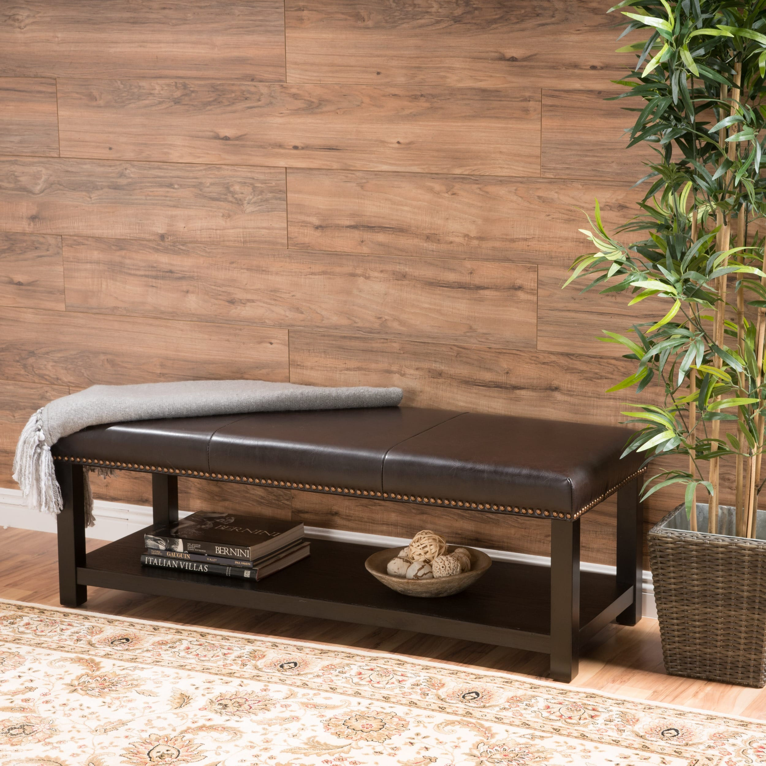 Brilliant Avary Wood Rectangular Storage Ottoman Bench With Bottom Rack By Christopher Knight Home Short Links Chair Design For Home Short Linksinfo