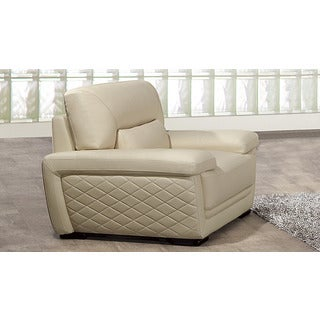 Divani casa luxe neo classical white italian leather tall for Abbyson living soho cream fabric chaise