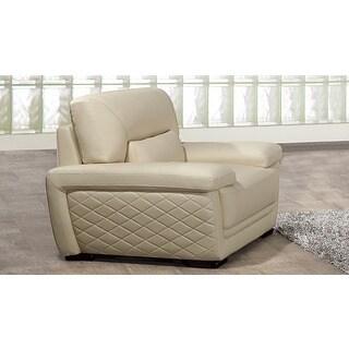 American Eagle Cream Italian Leather Chair