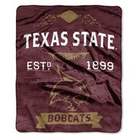 COL 670 Texas State 'Label' Raschel Throw