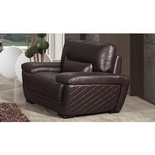 American Eagle Dark Brown Italian Leather Chair