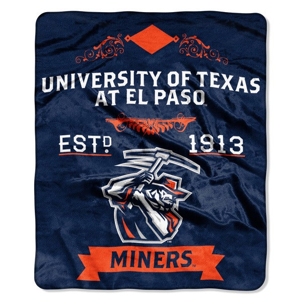 COL 670 Texas El Paso 'Label' Raschel Throw