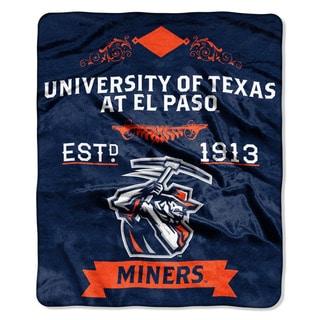 COL 670 Texas El Paso 'Label' Raschel Throw