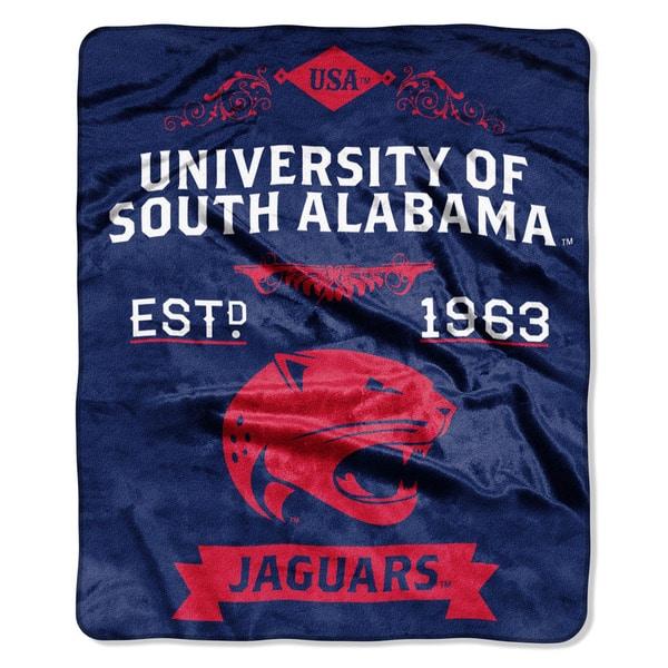 COL 670 South Alabama 'Label' Raschel Throw